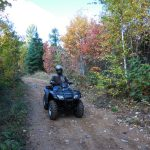 ATVing in Langlade County in the fall.